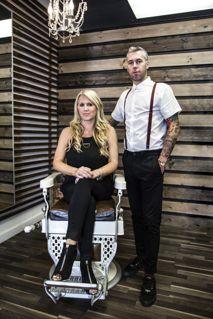Michael Ray and Kimberly Peters Hollywood 2U Hair Salon
